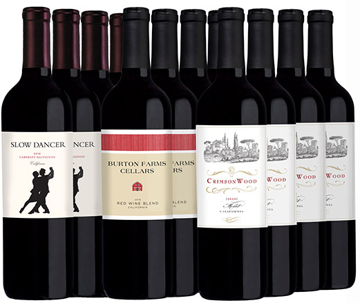 M56137-848 Black Friday 2017 Holiday Set 12-bottle All Red