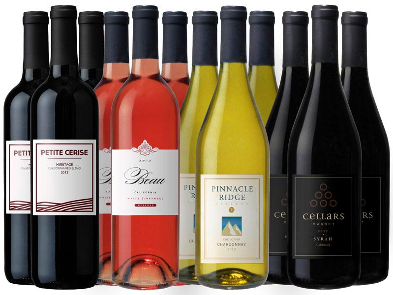 Vintage Wine Estates Sonoma Harvest - Variety 12-Bottle ...