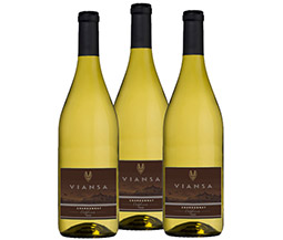 M55570-849 VWE Harvest 3-bottle 2016 Viansa Chardonnay Wine Set