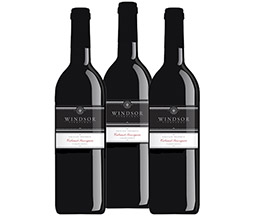 M55570-851 VWE Harvest 3-bottle 2013 Windsor Vineyards Private Reserve Cab Sauv Wine Set